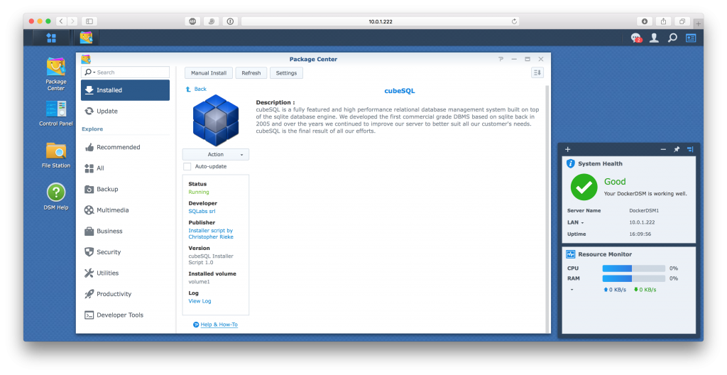 cubeSQL on Synology NAS – SQLabs