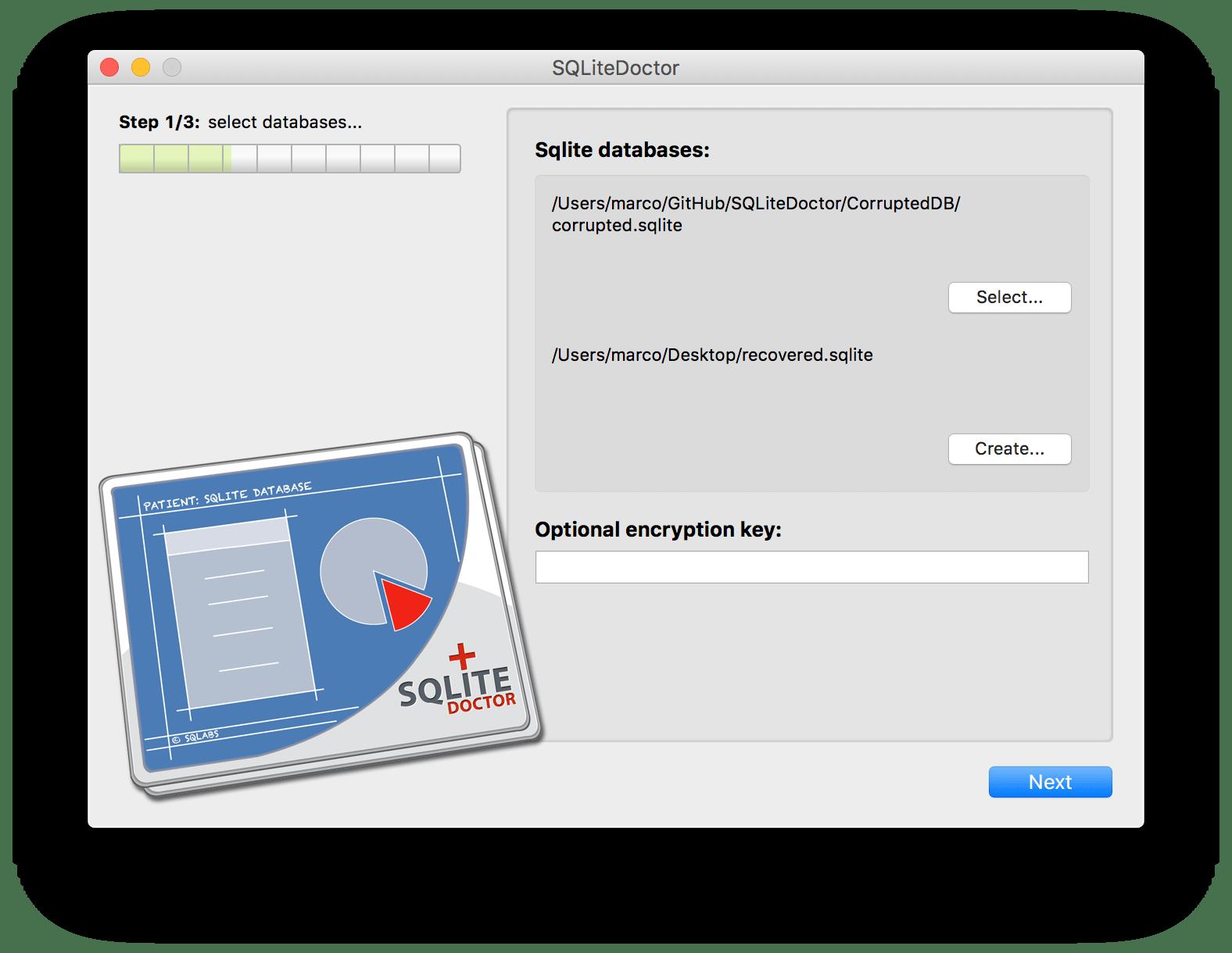 SQLiteDoctor: The life saver sqlite database repair tool